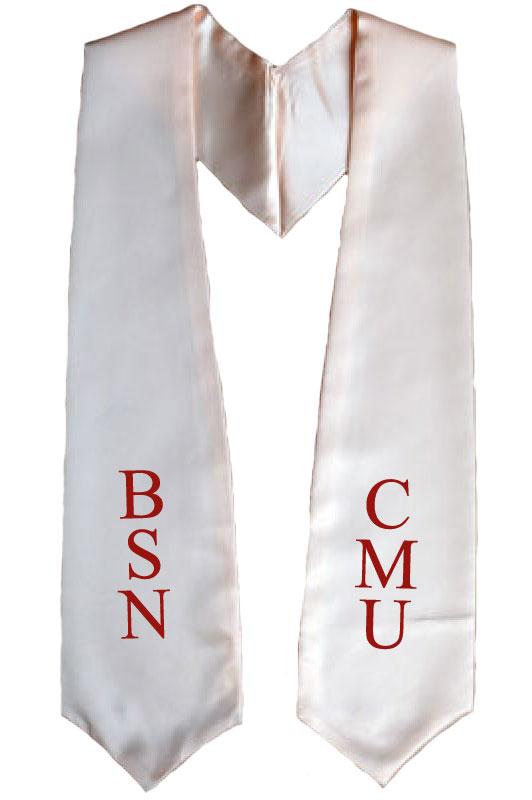 BSN CMU Peach Graduation Stole