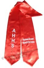 Red Two Side Embroidered Graduation Stole