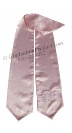 Alpha Gamma Greek Pink Graduation Stole