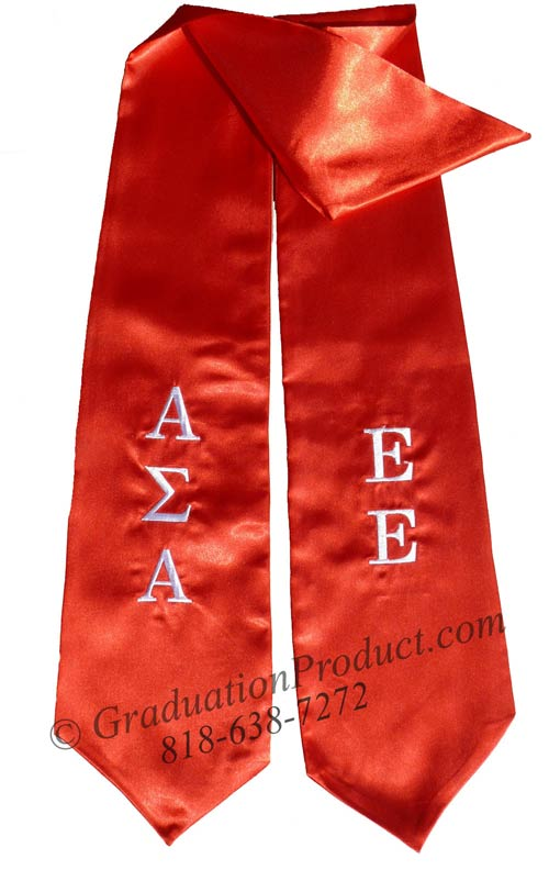 Alpha Sigma Alpha Greek Graduation Stole