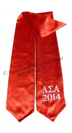 Alpha Sigma Alpha Red Greek Graduation Stole