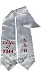 Aplha Chi Omega greek graduation stole