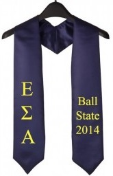 Epsilon Sigma Alpha Greek Graduation Stole