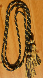 Black & Metallic Gold Intertwined Graduation Honor Cord