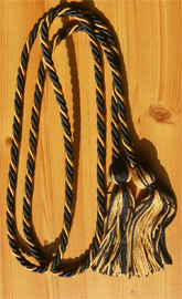 Black & Old Gold Intertwined Graduation Honor Cord