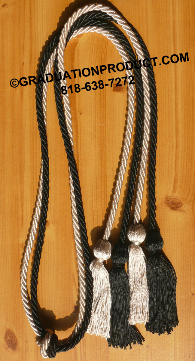 Black And Silver Double Honor Cord