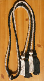 Black and Silver Double Tied Honor Cords