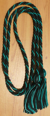 Green and Black Intertwined Graduation Honor Cord
