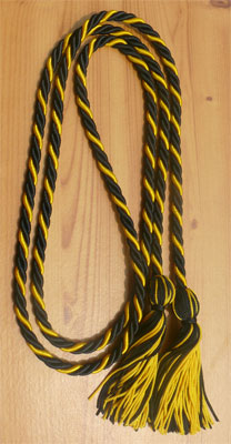 Black & Gold Intertwined Graduation Honor Cord