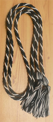 Black & Silver  Intertwined Graduation Honor Cord