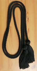 Black Graduation Cords