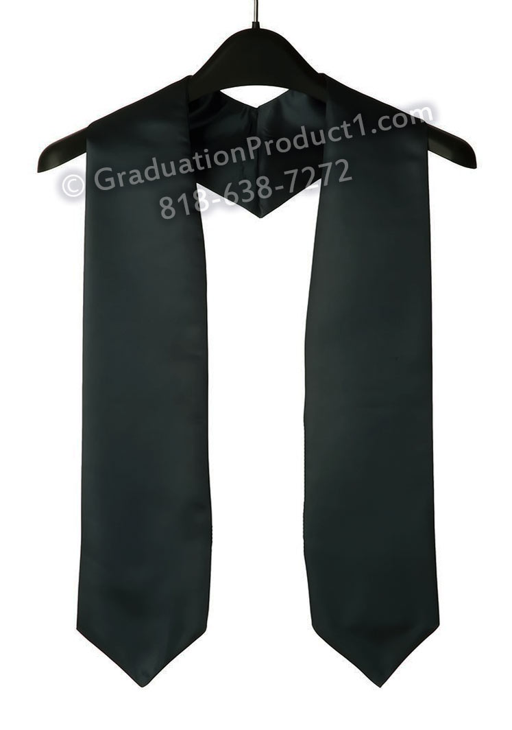 Black Plain Graduation Stoles