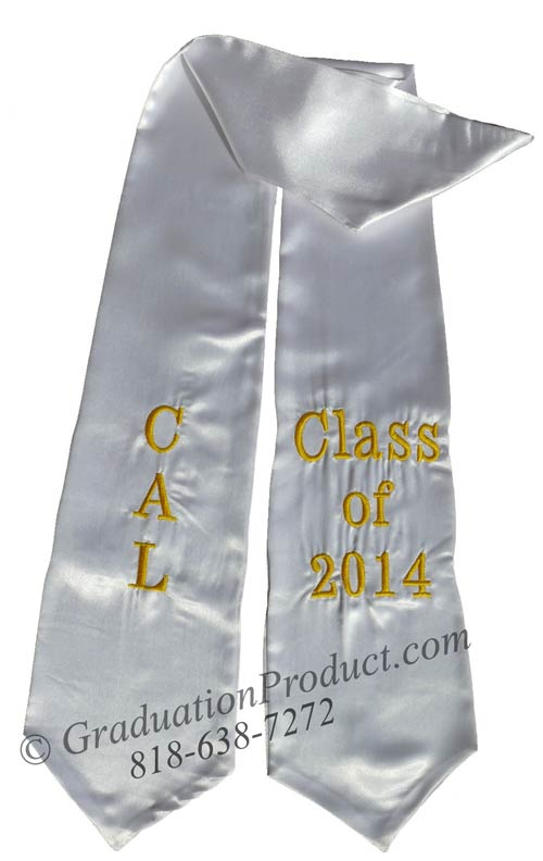 Cal Class Of 2014 White Graduation Stole