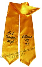 CL Harper High Graduation Stole