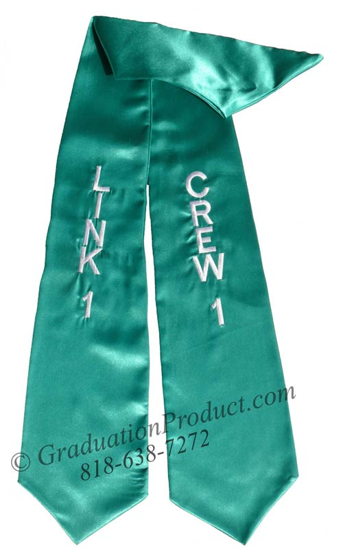 Crew1 Link1 Teal Graduation Stole