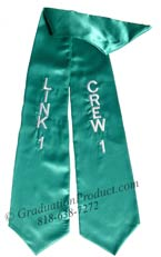 Teal Two Side Embroidered Graduation Stole
