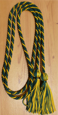Dark Green & Gold  Intertwined Graduation Honor Cord