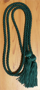 Hunter Green Graduation Cords