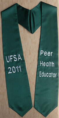 UFSA Peer Health Educator Graduation Stole