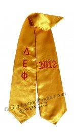 Delta Epsilon Phi Greek Graduation Stole