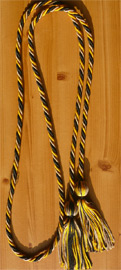 Drab ,Black and Gold  Intertwined Graduation Honor Cord