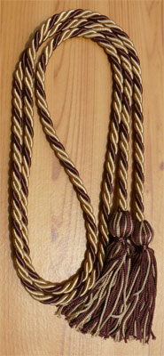 Drab & Brown  Intertwined Graduation Honor Cord