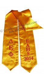 EAHS Delta Epsilon Phi Greek Graduation Stole