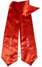 ENA Red Graduation Stoles