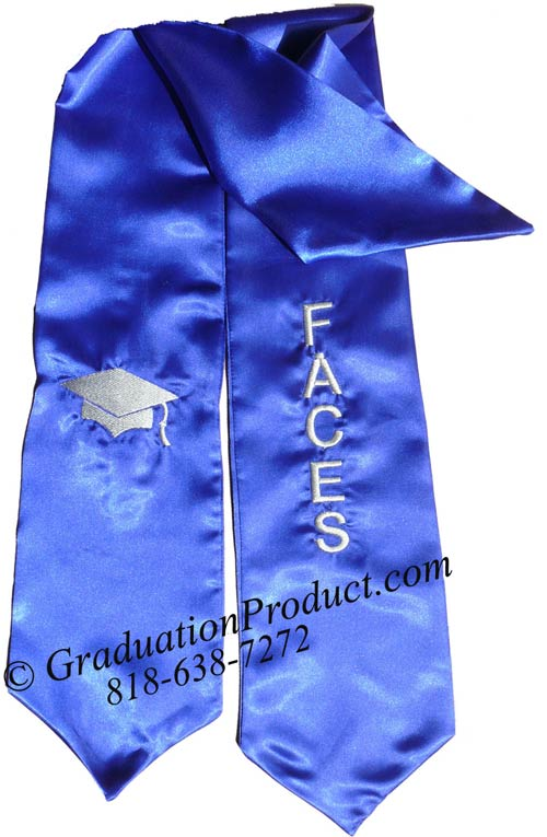 Faces Texas State University Graduation Stole