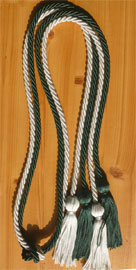 Forest Green and Light Blue Double Tied Honor Cords