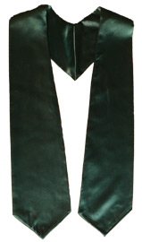 Forest Green Graduation Stole