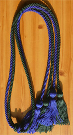Royal Blue & Forest Green Double Tied Honor Cords