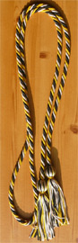 Gold ,Black and Silver Intertwined Graduation Honor Cord