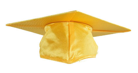 Gold Graduation cap