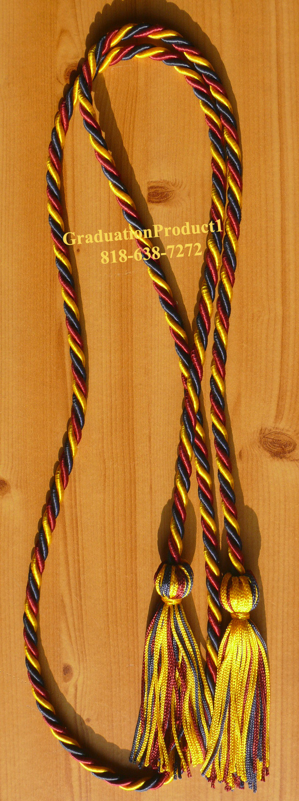 Gold Navy Blue Maroon Gold Honor Cords