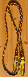 Gold , Navy Blue and Maroon Intertwined Graduation Honor Cord