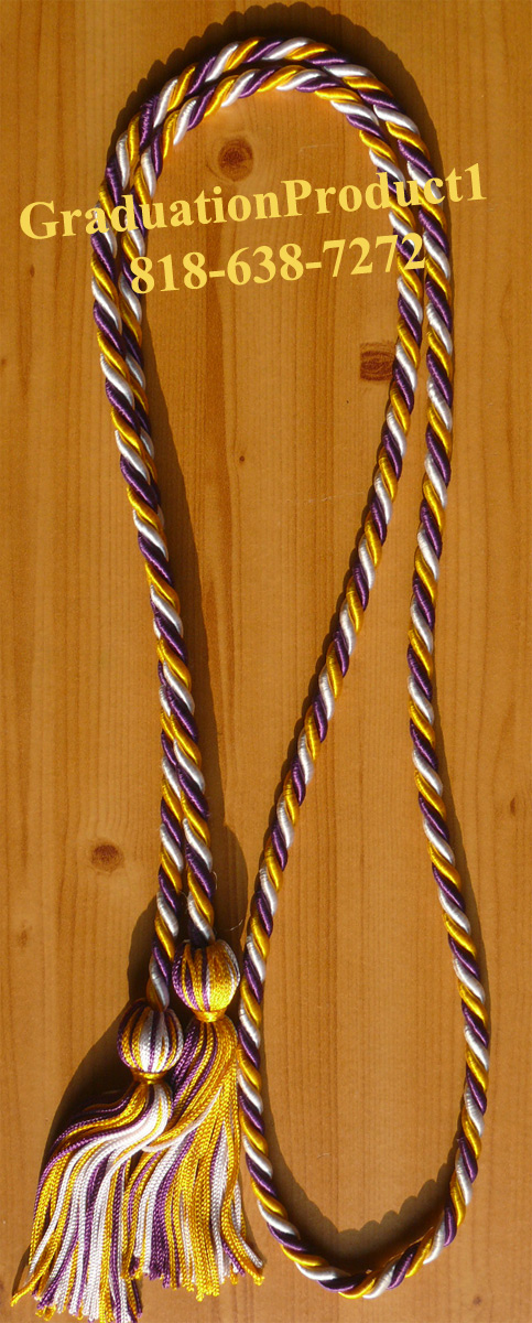 Gold Purple And White Honor Cords