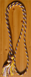 Gold , Purple and White  Intertwined Graduation Honor Cord