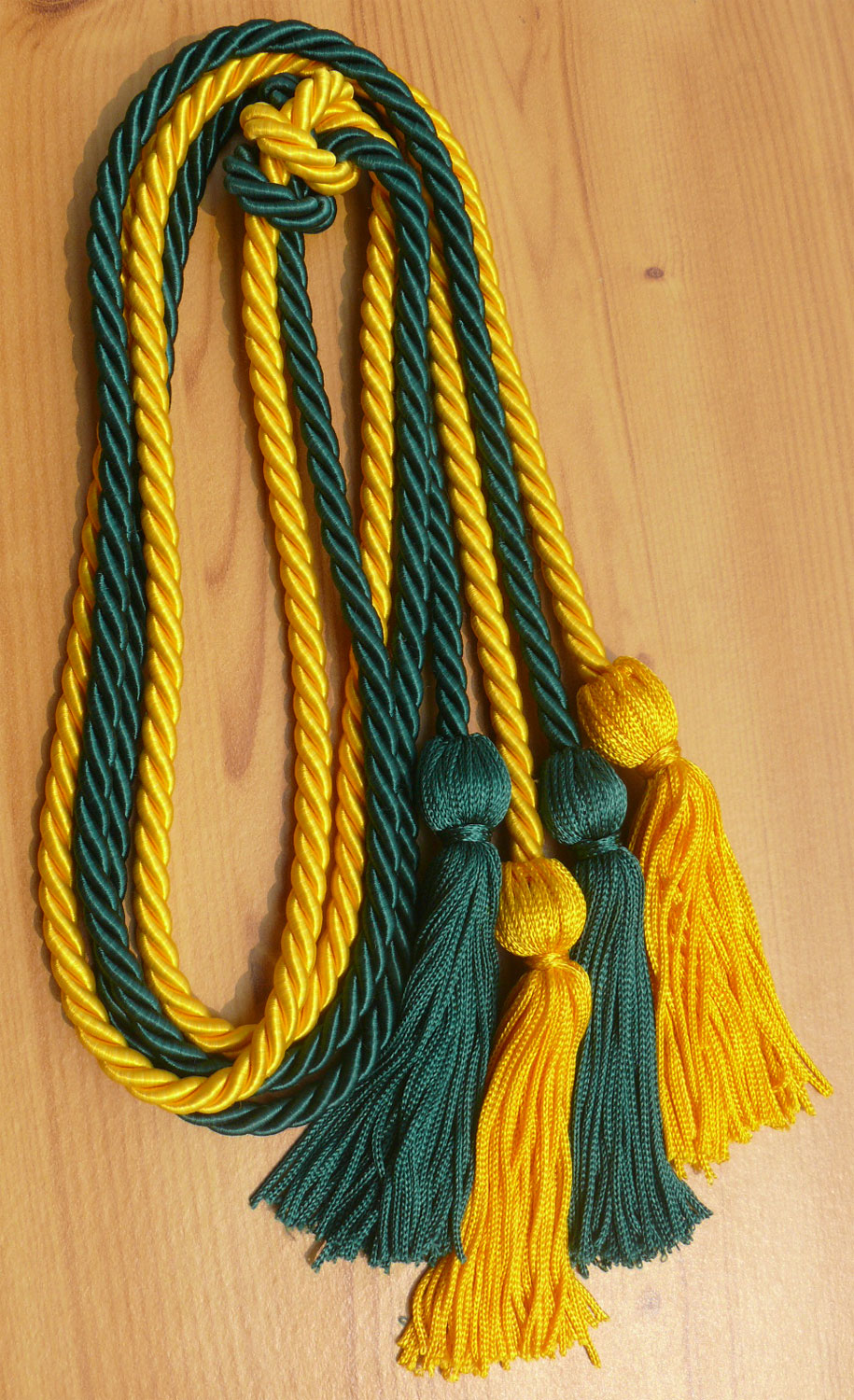 Gold Darkgreen Double Honor Cord