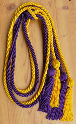 Gold and Purple Double Tied Honor Cords