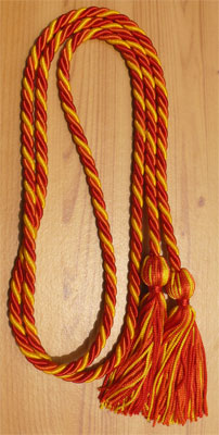 Gold, Red and Orange Intertwined Graduation Honor Cord