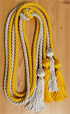 Gold and Silver Double Tied Honor Cords