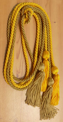 Gold and Special Gold Double Tied Honor Cords