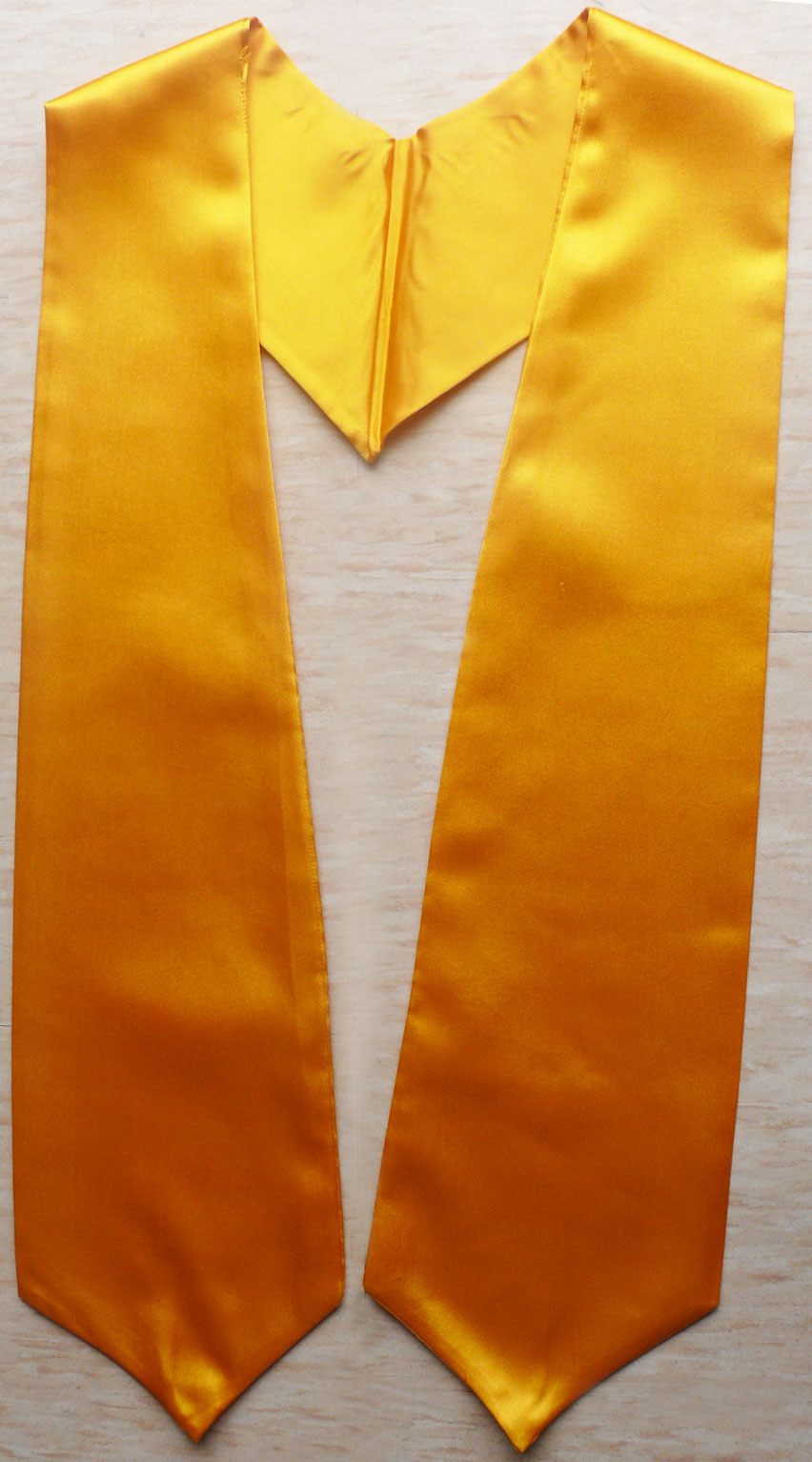 Gold Plain Graduation Stoles