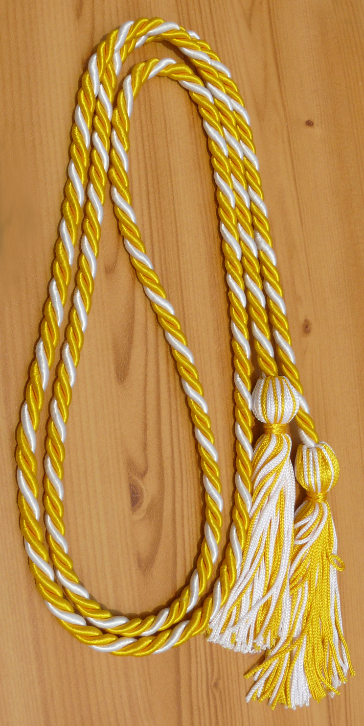 Gold White Honor Cords