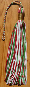 8 Three Color Graduation Tassel with Metallic Wrap