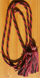 Hot Pink & Black Intertwined Graduation Honor Cord