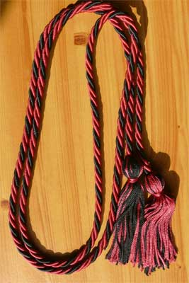 Hot Pink & Black Braided Graduation Cords