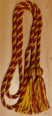 Hot Pink & Gold Intertwined Graduation Honor Cord