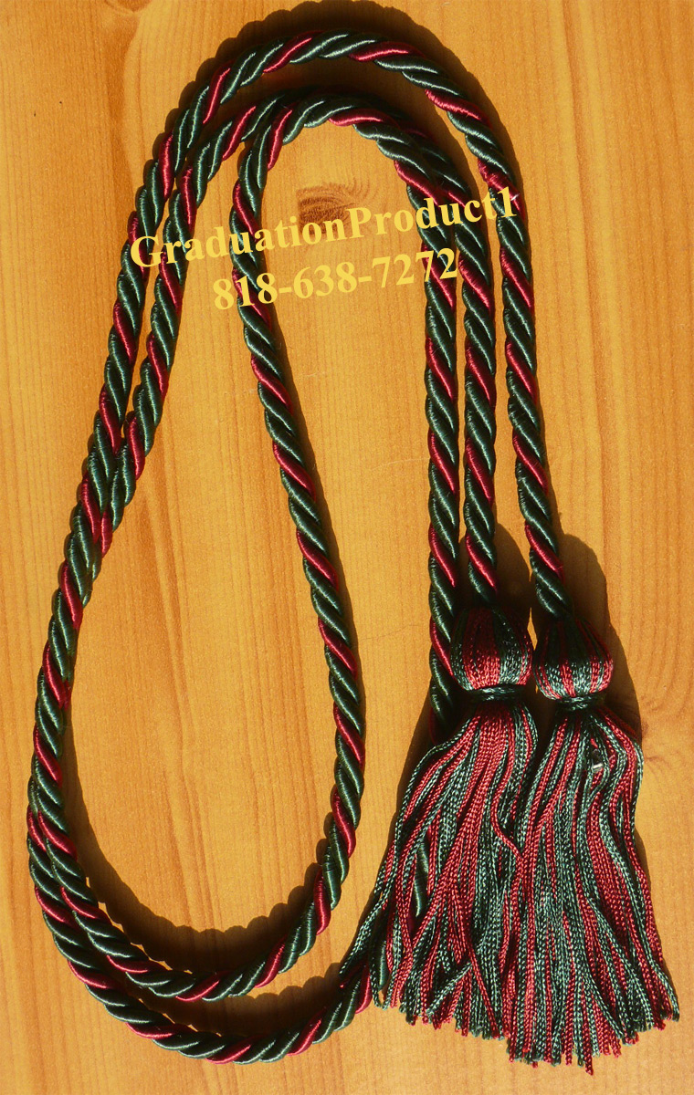 Dark Green And Maroon Honor Cords